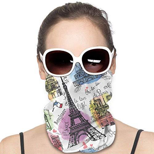 qulia Unisex Europe Painted Cover Shield Gesichtsschutz Shield Schutzvariante Kopftuch Krawatte für Staub im Freien Sports`A1
