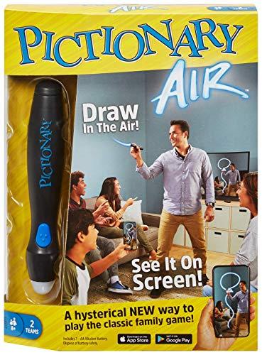 Mattel Games Pictionary Air Juego de dibujo familiar, enlaces a dispositivos inteligentes, versión en inglés