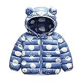 Bebé Chaqueta Invierno, Niños Niñas Abrigo con Capucha Traje de Nieve Manga Larga...