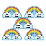 Personalized Waterproof Scuff-Proof Match-up Shoe Labels (Rainbow Theme)