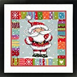 Dimensions Needlepoint Kit, Patterned Santa Claus Christmas Needlepoint, 14'' x 14''