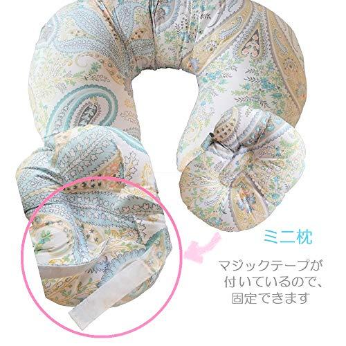 『授乳クッション 授乳まくら 授乳ピロー 赤ちゃん ミニ枕付き 綿素材 洗える (星)』の6枚目の画像