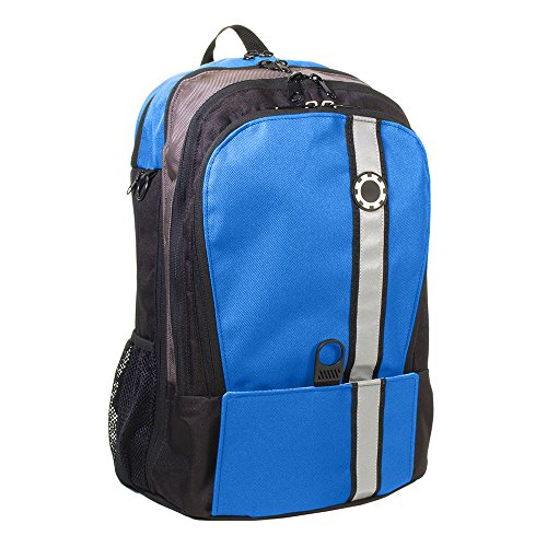 DadGear Backpack Diaper Bag - Blue Retro Stripe