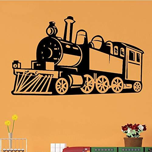 Tianpengyuanshuai Steam Train Pegatinas de Pared decoración del hogar Vinilo Impermeable Pegatinas de Pared Sala de Estar Pegatinas de pared45x75cm