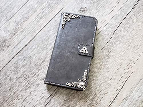 Trinity Celtic Knot Handmade Phone Wallet Stand Case Cover for iPhone 8 7 6 6s Plus X Xr Xs Max Samsung Galaxy S7 Edge S8 S9 S10 Plus Note 8 9 Mn0956