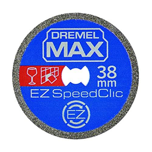 Dremel MAX Hochleistungs-Trennscheibe (SC545DM) Diamant-Trennscheibe mit EZ SpeedClic System, 38 mm, max. Lebensdauer