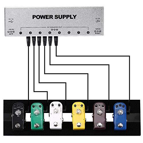【𝐑𝐞𝐠𝐚𝐥𝐨】 Fuente de alimentación para Pedal de Efectos Estable de 2 Puertos USB, Fuente de alimentación para Pedal de Guitarra, 100-240 V Aislado para Pedal de Efectos de Efecto de Guitarra