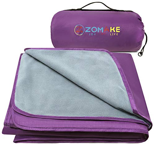 ZOMAKE Outdoor Blanket, Waterproof Camping Blanket for Cold Weather Warm Throw Blanket for Picnic, Stadium, Festival
