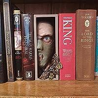 本棚の怪物をのぞき見、クリエイティブでリアルな樹脂のパーソナライズされたブックエンド、ホーム/オフィス用のデスクトップ装飾ブックエンド (Color : E)