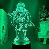FDJHG - Luz nocturna LED para niños, sensor táctil, batería para decoración, lámpara 3D