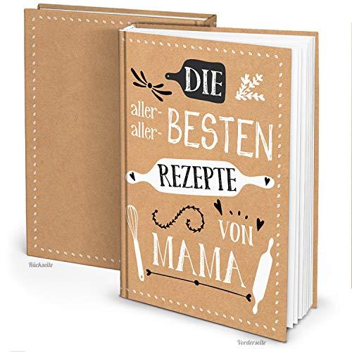 Logbuch-Verlag Rezeptbuch zum Selberschreiben DIN A4 REZEPTE VON MAMA - Familienrezepte Kochbuch Geschenk Sohn Tochter