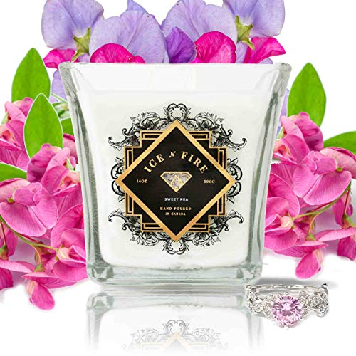 Ice N Fire Sweet Pea Sterling Silver Ring Candle (Hidden Ring Valued up to $5,000)