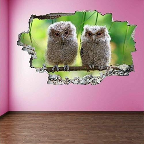 Wandtattoo Baby Owl Bird 3D Wall Art Sticker Mural Decal Poster Children's Room Home Decoration