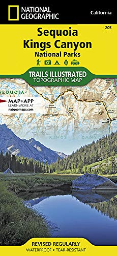 Sequoia and Kings Canyon National Parks (National Geographic Trails Illustrated Map (205))