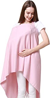 Lausana Nursing Cover for Breastfeeding Mulit-Use Shawl Wrap Stole for Women (Pink)