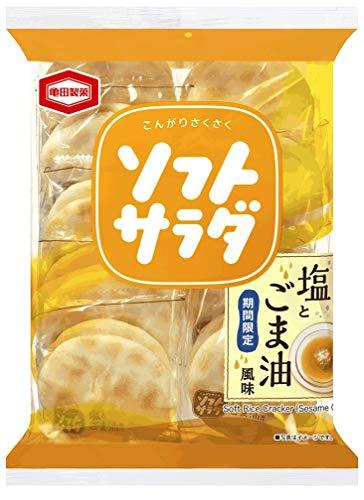 亀田製菓 ソフトサラダ 塩とごま油風味 18枚 ×12袋