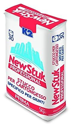 Foto di Stucco K2 in polvere per cartongesso riempitivo color bianco kg. 5 F174
