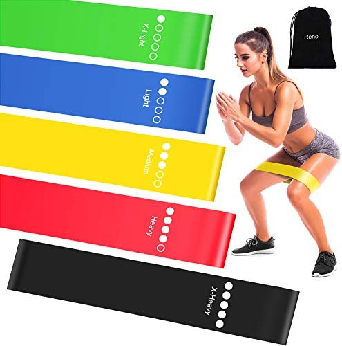Resistance Exercise Bands for Booty Bands with Instruction Guide and Carry Bag product image