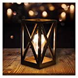 Lampade decorative a 20 LED, alimentate a batteria, luce notturna, retrò, lampada da comodino, lampada da tavolo per esterni come lanterna da giardino o da interno come lanterna da tavolo