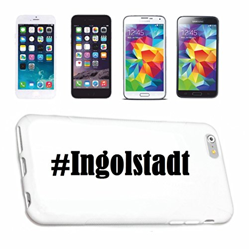 Reifen-Markt Handyhülle kompatibel für iPhone 4 / 4S Hashtag #Ingolstadt im Social Network Design Hardcase Schutzhülle Handy Cover Smart Cover