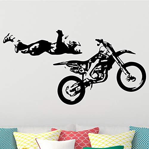 mlpnko Motocicleta Deportes Tatuajes de Pared Pegatinas de Pared extraíbles Mural Decoración del hogar Dormitorio Impermeable,CJX10830-75x86cm