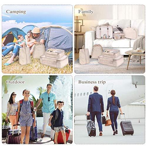 Cherishly Conjunto de organizador de maletas Clasificación de equipaje de 8 piezas Bolsa de almacenamiento Bolsas de organizador Ropa Calzado cosmético Viaje elegant