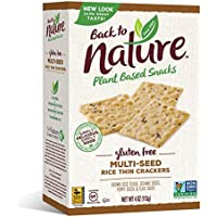 Back to Nature Non-GMO Multi-Seed Rice Thins Gluten Free Crackers