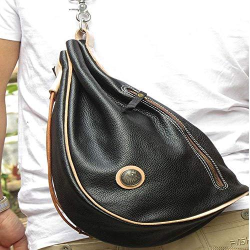 MQJ Mochila Al Aire Libre Messenger Messenger Bag Bolsa de Hombro de Cuero/para Mujer/Bolso de Bola de Masa de Viaje de Viaje Al Aire Libre