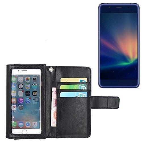 K-S-Trade® Für Hisense A2 Pro Schutz Hülle Case Mit Bildschirmschutz/Schutzfolie Flip Cover Wallet Case Etui Hülle Für Hisense A2 Pro Schwarz