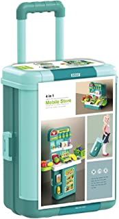 BOWA 4 in 1 Mobile Supermarket Pretend Play Suitcase Trolley Case