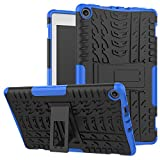 MAOMI Amazon Fire 8 (2017/2018 Release) Case,[Kickstand Feature],Shock-Absorption/High Impact Resistant Heavy Duty Armor Defender Case for Kindle fire HD 8 7th/8th (Blue)