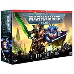 27 push fit plastic miniatures The Warhammer 40,000: Elite Manual A heavyweight paper gaming mat Range rulers and dice Datasheets and transfer sheets