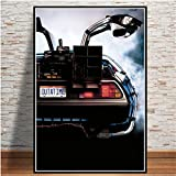 RTCKF Back To The Future Movie Poster Cool Car Posters Impresiones Cuadros Vintage Wall Art Picture Canvas Painting para Living Room Decor 40x60CM (Sin Marco)