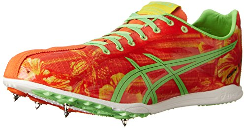 ASICS Men's Gunlap Track And Field Shoe,Red Floral/Flash Green,12.5 M US -  ASICS America Corporation