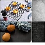 Selens 2 en 1 Telón de Fondo de Papel 56x88cm Cemento Negro y Gris Fondo de Cara Doble para Fotografía Estudio Fotográfico Flat Lay Comida Producto Pequeño Cosmético Joya Vlog Fotógrafo