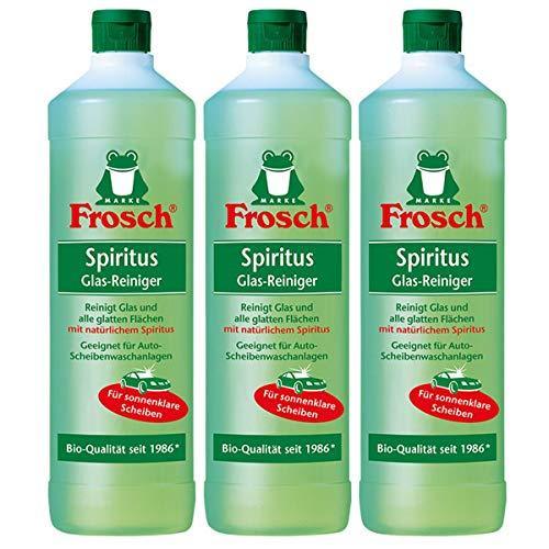 3x Frosch Spiritus Glas-Reiniger 1 Liter