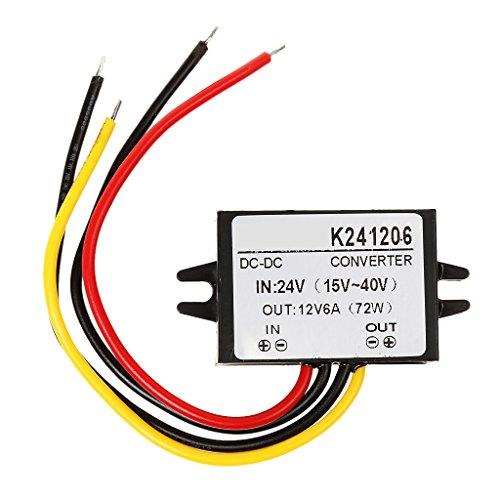 Sharplace Convertisseur Électrique Régulateur 24v Turn 12v 6A 60w DC