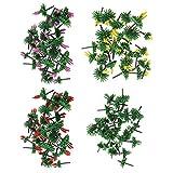 SM SunniMix Árboles de Flores Modelo 1 / 75-1 / 150 para Manualidades de Bricolaje O Paisaje de Tren Modelo de Construcción