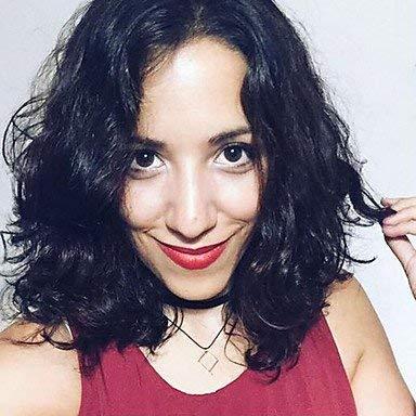 WJSW Js-Perücken Synthetische Perücke Welliger Bob Haarschnitt Mittelteil Bob Black Damen Capless Natürliche Perücken Synthetisches Haar