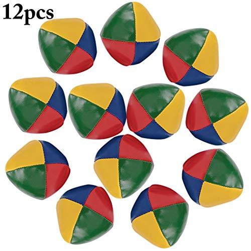Joyibay Jonglierbälle für Anfänger, 12 Stück Jonglierball Set Lustige Spielbälle Interaktives Jonglierbälle für Kinder