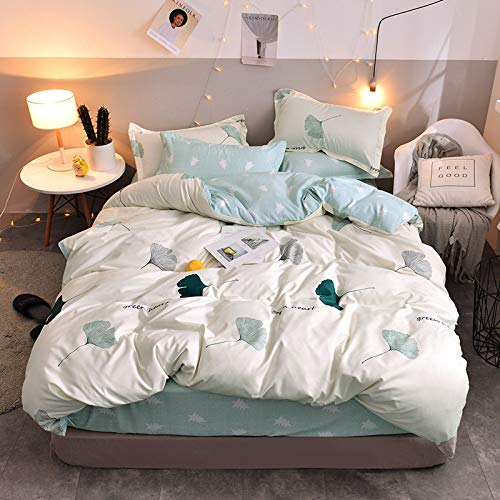 Small Fresh Style Flower Striped Bed Sheet 4-Piece Set, With Elastic Corner Flat Sheet, Super Large Soft And Comfortable Wrinkle-Free Machine Washable Bed Sheet Set Home Textile