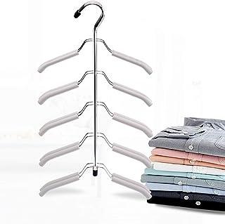 WSDF Cintres à chemises à 5 niveaux, gain de place, antidérapants, pour vêtements, chemisiers, penderie, penderie multi-us...
