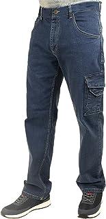Lee Cooper LCPNT239 Workwear Safety Carpenter Stretch Denim Jeans Work Trousers, Light Blue, 40W/31R