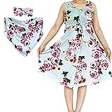 Mom Robe & Matching Baby Swaddle Set, Maternity Nightdress, Women Sleepwear Great Gift (A02-Blue-Nightdress, XL)