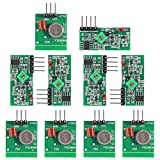 5Pcs 433MHz RF Wireless Transmitter and Receiver Module Kit for Arduino/ARM/MCU, and for Raspberry pi