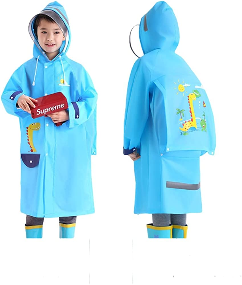 New York Mall We OFFer at cheap prices Double Brim Raincoat for Kids Coat Reusable EVA Rain