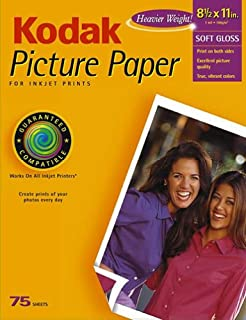 Kodak 8175655 Picture Paper, 8.5inx11in, 75 Sheets