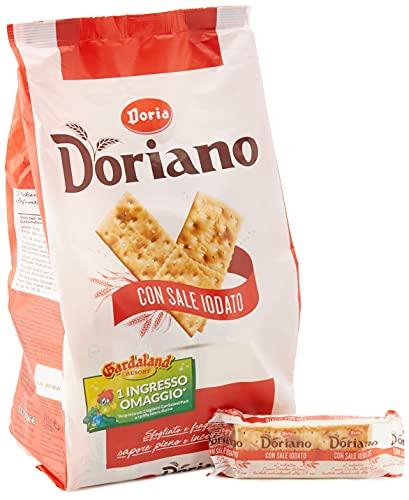 Doria - Doriano Cracker Classici con Sale Iodato - Croccanti, Dorati e Fragranti - Confezione da 24 Pacchetti