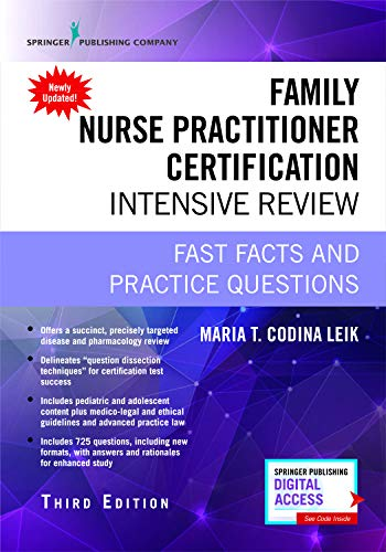 Family Nurse Practitioner Certification Intensive Review: Fast Facts and Practice Questions (Book + Free App)