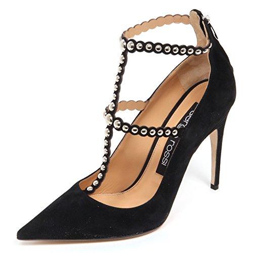 Sergio Rossi E4746 Decollete Donna Scarpe Borchie Suede Shoe Woman [40]
